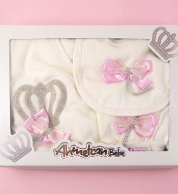 P1320718 350x380 - Ünneplő, keresztelő ruha szett - 5 részes - koronás - rózsaszín