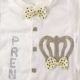 P1320742 80x80 - Ünneplő, keresztelő ruha szett - 4 részes - koronás - pöttyös, bézs