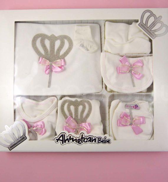 P1320760 570x619 - Ünneplő, keresztelő ruha szett - 11 részes - rózsaszín