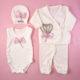 P1320765 80x80 - Ünneplő, keresztelő ruha szett - 11 részes - rózsaszín