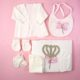 P1320767 80x80 - Ünneplő, keresztelő ruha szett - 11 részes - rózsaszín