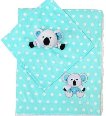 babyono takaro puha minky es koala szundikendo 75x100cm 1412 02 kek 350x380 - Babyono babatakaró puha koala takaró és szundikendő 75x100cm kék