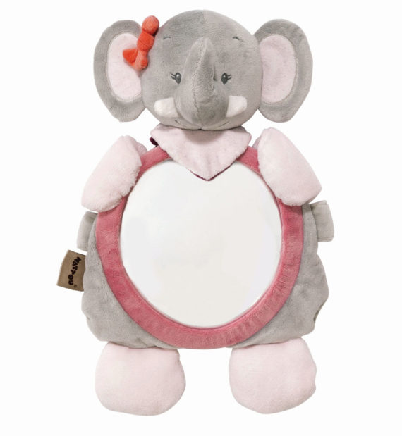 nattou babatukor adele  570x619 - Nattou plüss babafigyelő tükör Valentine, elefánt figura 38x24cm #424349