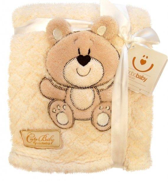 KCSN 02EM 570x619 - Bobobaby Cute Baby plüss kocsitakaró 76x102cm - ekrü / maci