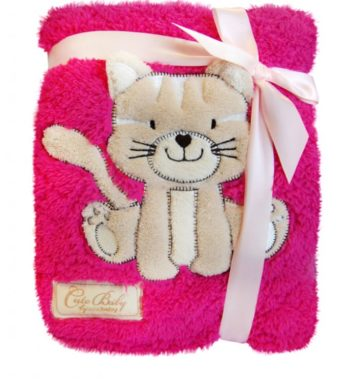 KCSN 02PC 350x380 - Bobobaby Cute Baby plüss kocsitakaró 76x102cm - pink / cica