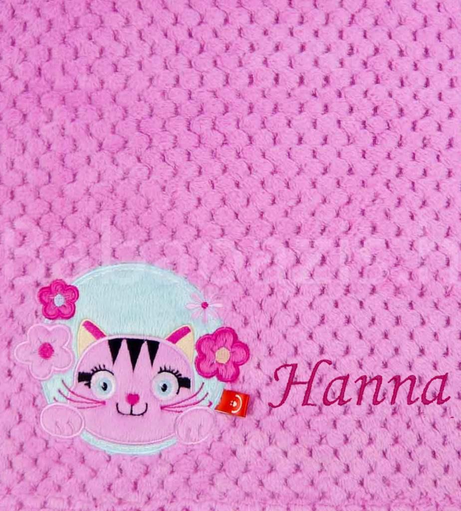 Névre szóló mikroszálas babatakaró-Bobobaby – cicás 2-rózsaszín - Babaoázis  Webáruház-Egyedi baba ajándékok 2139e97c58