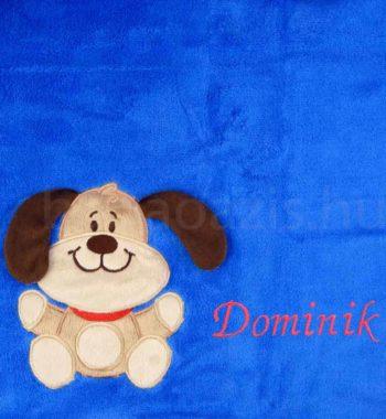 babatakaro.P1330060 6 350x380 - Névre szóló mikroszálas babatakaró -Bobobaby– kék kutyus 2