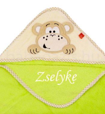 babatakaro.P1330060 9 350x380 - Névre szóló plüss kapucnis kifogó-Bobobaby-majom-zöld