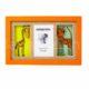 Baba képkeret 3D állatos-narancs
