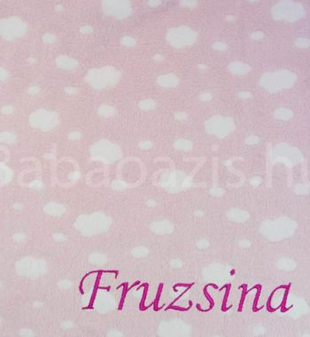 egyedi babatakaro P1330194 5 350x380 - Névre szóló wellsoft babatakaró – felhős-rózsaszín
