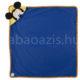 84934 2 80x80 - Névvel hímzett Mickey egér kapucnis plüss takaró - kék-100 x 100 cm