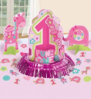 DPA280034 350x380 - Első születésnap Asztali dekoráció szett-pink