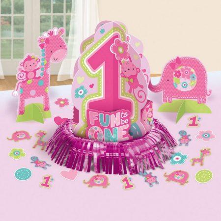 DPA280034 - Első születésnap Asztali dekoráció szett-pink