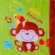 baba kocsitakaro 2 1 80x80 - Névre szóló plüss kocsitakaró-majom-zöld 90x70cm