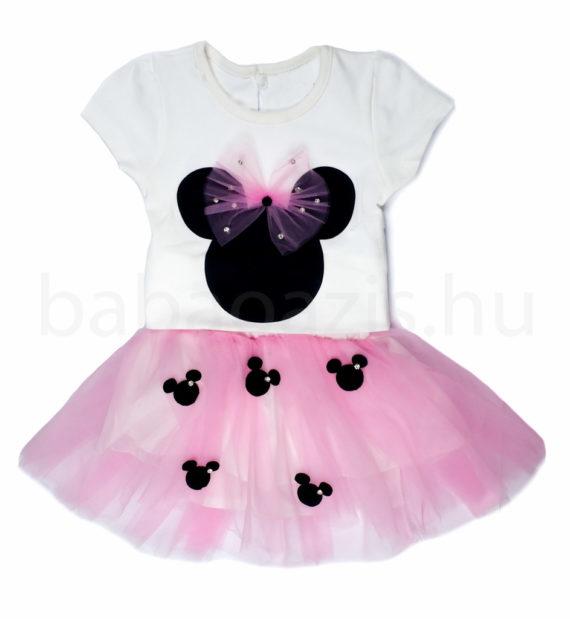 DSCF4923 570x619 - Kislány ruha szett - 2 részes - Minnie