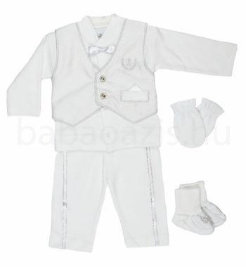 keresztelo ruha DSCF4971 2 350x380 - Ünneplő, keresztelő ruha szett - 5 részes - kisfiú - 62-es méret