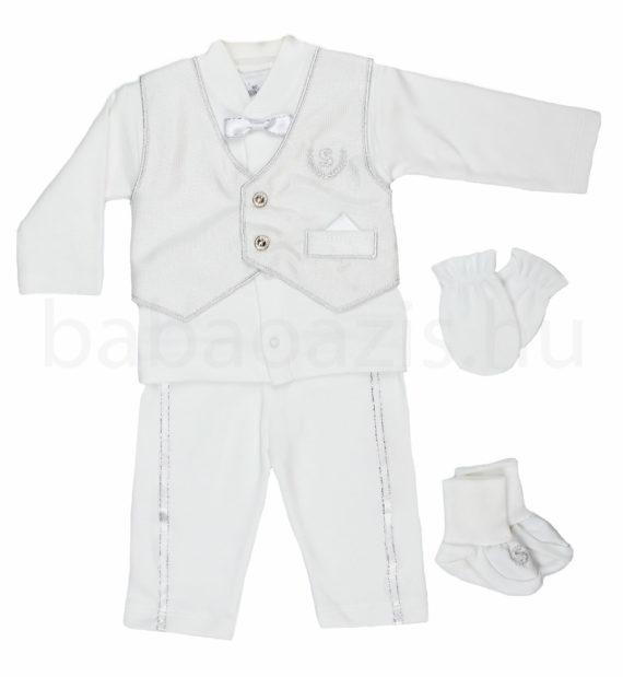 keresztelo ruha DSCF4971 2 570x619 - Ünneplő, keresztelő ruha szett - 5 részes - kisfiú - 62-es méret