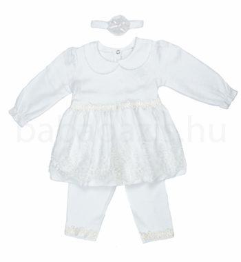 keresztelo ruha DSCF4971 6 350x380 - Ünneplő, keresztelő ruha szett - 3 részes - kislány