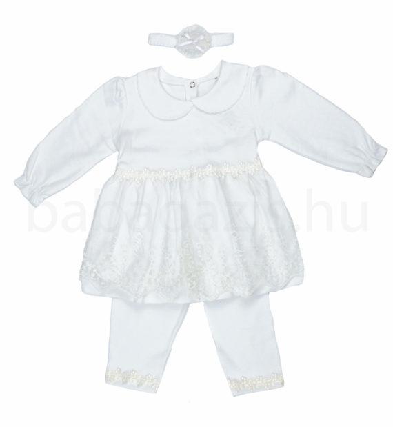 keresztelo ruha DSCF4971 6 570x619 - Ünneplő, keresztelő ruha szett - 3 részes - kislány