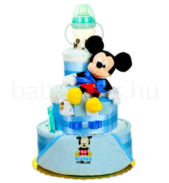 mickey pelenkatorta DSCF5494 2 570x619 - Mickey egér pelenkatorta - 3 szintes