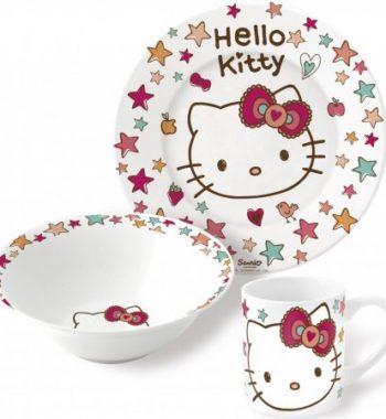 hello kitty porcelan keszlet 2 350x380 - Gyermek porcelán étkészlet  Hello Kitty -3 részes