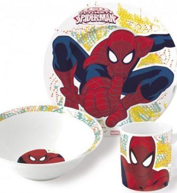 pokember porcelan keszlet 2 350x380 - Gyermek porcelán étkészlet  Spiderman, Pókember -3 részes