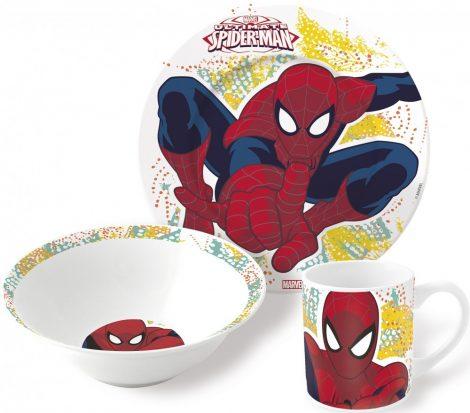 pokember porcelan keszlet 2 - Gyermek porcelán étkészlet  Spiderman, Pókember -3 részes