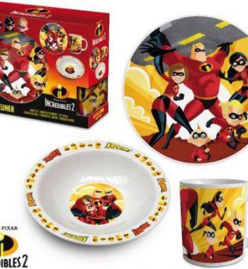 hihetetlen csalad porcelan etkeszlet 350x380 - Gyermek porcelán étkészlet -Hihetetlen család-3 részes