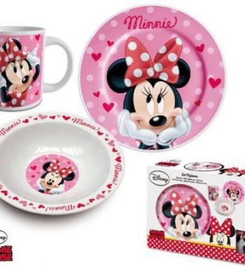 minnie porcelan szett 350x380 - Gyermek porcelán étkészlet  Disney Minnie -3 részes