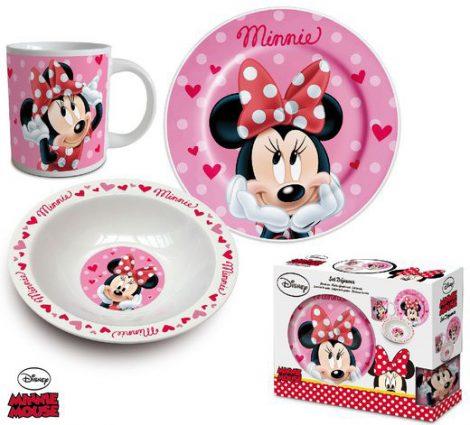 minnie porcelan szett - Gyermek porcelán étkészlet  Disney Minnie -3 részes
