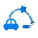 Szilikon rágcsalánc -Autós-kék