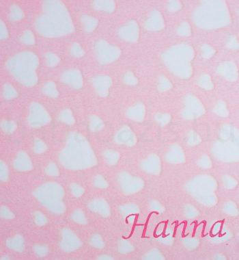 babatakaro DSCF6208 3 350x380 - Névre szóló wellsoft babatakaró – szívecskés-rózsaszín