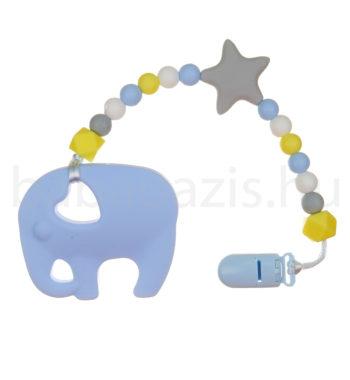 elefant ragcsalanc DSCF6200 2 350x380 - Szilikon rágcsalánc - Elefánt-kék