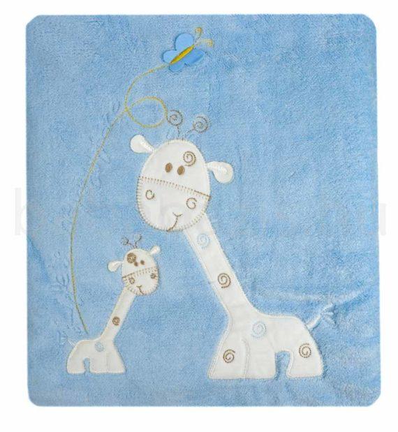 baba kocsitakaro DSCF6416 1 570x619 - Bebessi vastag wellsoft takaró szett, kocsizsák - zsiráfos-kék