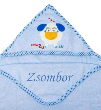 kapucnis torolkozo DSCF6381 1 350x380 - Névre szóló kapucnis törölköző – bárány-kék