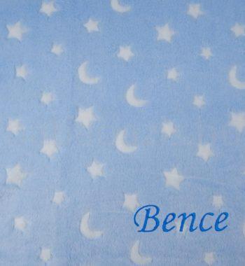 DSCF7102.2 350x380 - Névre szóló wellsoft babatakaró – holdas-csillagos-kék