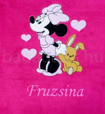 neves babatakaro DSCF7298 5 350x380 - Névre szóló Disney Minnie wellsoft babatakaró- pink