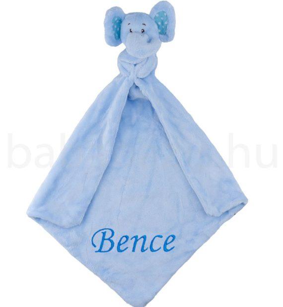 Elefántos szundikendő, alvókendő kék