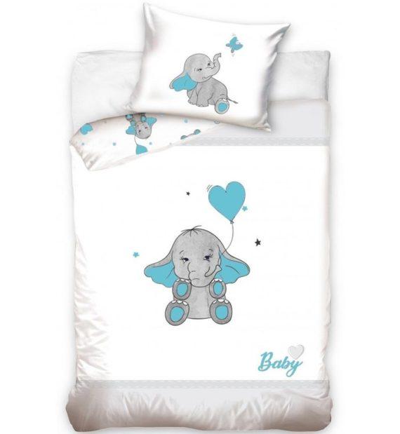 elefánt gyerek ágynemű kék