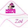 Neves kapucnis törölköző – Minnie-fehér 2- 75x90cm