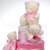 pelenkatorta DSCF8719 10 100x100 - Baby Girl pelenkatorta - 3 szintes