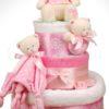 pelenkatorta DSCF8719 9 100x100 - Baby Girl pelenkatorta - 3 szintes