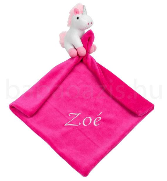 nyunya kendo DSCF9260 2 570x619 - Névvel hímzett szundikendő - Unikornis-fehér-pink