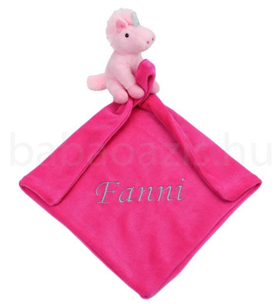 unikornis szundikendo DSCF9246 2 570x619 - Névvel hímzett szundikendő - Unikornis-rózsaszín-pink