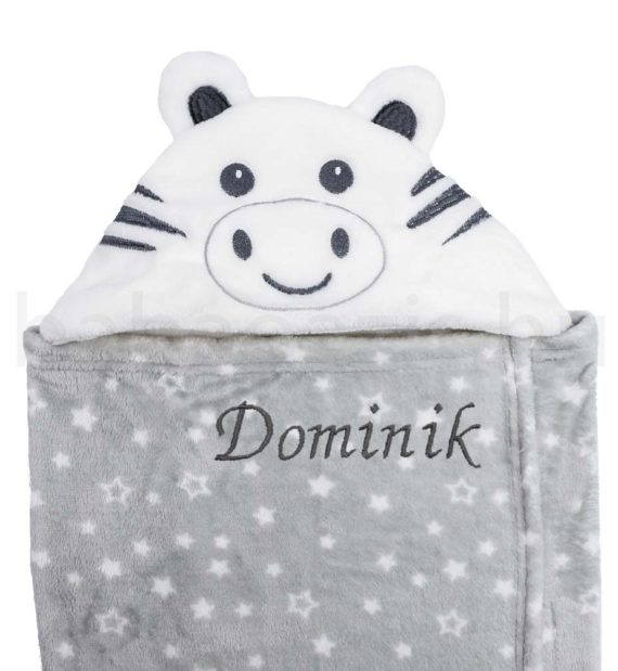 DSCF9921 babatakaro 570x619 - Neves kapucnis babatakaró – Zebra szürke-fehér