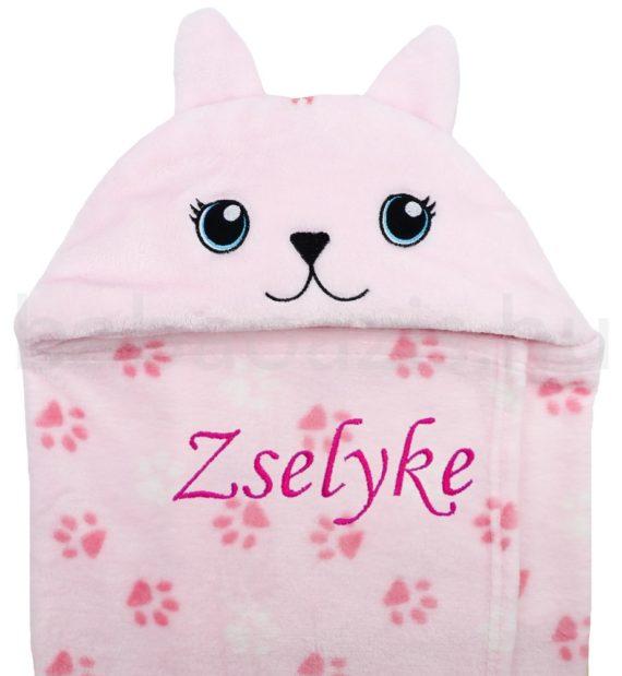 neves babatakaró rózsaszín cicás