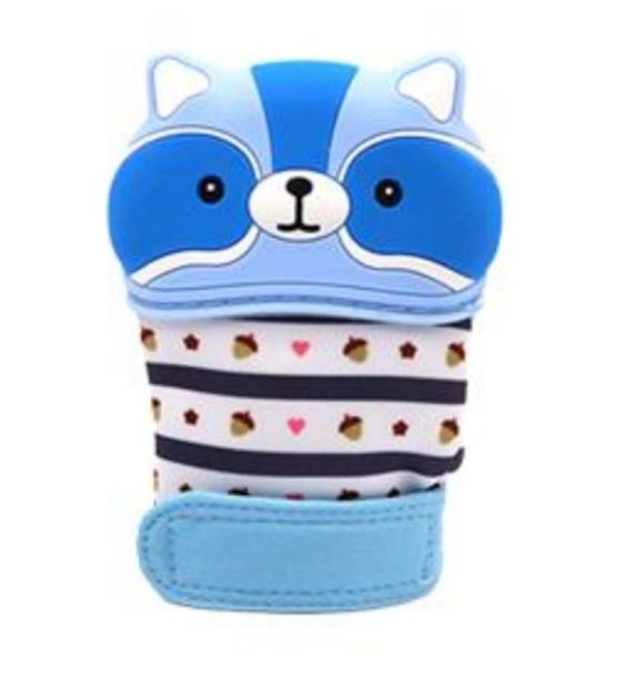 fogzaskesztyu mosomedve kek 570x619 - Fogzáskesztyű rágóka-Mosómedve-kék