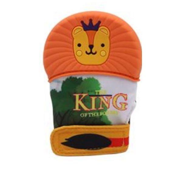 kesztyu ragoka oroszlan narancs 570x619 - Fogzáskesztyű rágóka-Oroszlán-narancs