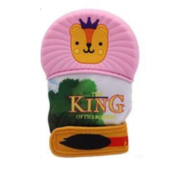 kesztyu ragoka oroszlan pink 570x619 - Fogzáskesztyű rágóka-Oroszlán-rózsaszín