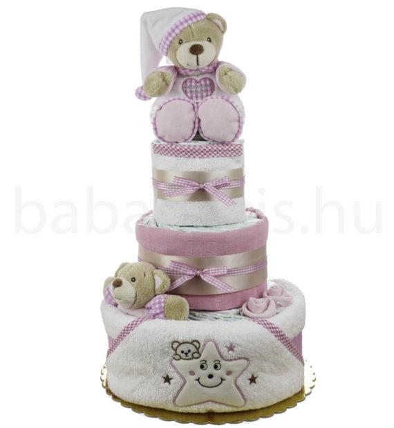 pelenkatorta P1010026 5 570x619 - Egyedi baba ajándék